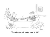 """""""I predict fear will replace greed in '88."""" - New Yorker Cartoon Regular Giclee Print by Dean Vietor"""