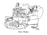 Three Thinkers - New Yorker Cartoon Premium Giclee Print by William Steig