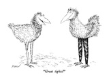 """Great tights!"" - New Yorker Cartoon Premium Giclee Print by Edward Koren"