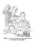 """""""May I say, sir, the staff and I just knew you'd see through that Beaujola…"""" - New Yorker Cartoon Giclee Print by Gahan Wilson"""