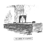 The Week At A Glance' - New Yorker Cartoon Premium Giclee Print by Robert Weber
