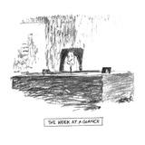 The Week At A Glance' - New Yorker Cartoon Giclee Print by Robert Weber