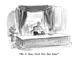 """Mr. S. Claus, North Pole.  Dear Santa:"" - New Yorker Cartoon Premium Giclee Print by Edward Frascino"