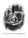 """Tues., May 19: Nothing on television again last night."" - New Yorker Cartoon Premium Giclee Print by Lee Lorenz"
