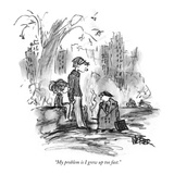 """My problem is I grew up too fast."" - New Yorker Cartoon Premium Giclee Print by Robert Weber"
