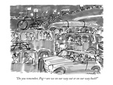 """Do you remember, Peg—are we on our way out or on our way back"" - New Yorker Cartoon Premium Giclee Print by Michael Crawford"
