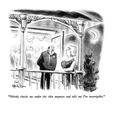 """Nobody chucks me under the chin anymore and tells me I'm incorrigible."" - New Yorker Cartoon Premium Giclee Print by Ed Fisher"