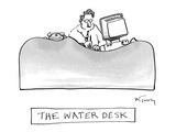 The Water Desk - New Yorker Cartoon Premium Giclee Print by Mike Twohy