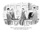 """We're too well connected for jail time, but I worry a little about middle…"" - New Yorker Cartoon Premium Giclee Print by Mike Twohy"