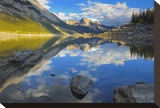 Medicine Lake Stretched Canvas Print by Mike Grandmaison