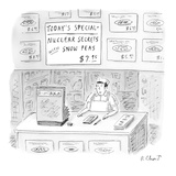 Nuclear Secrets with Snow Peas' - New Yorker Cartoon Regular Giclee Print by Roz Chast