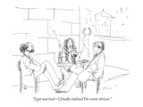 """I got married—I finally realized I'm event-driven."" - New Yorker Cartoon Premium Giclee Print by Richard Cline"