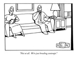 """Not at all.  We're just breeding contempt."" - New Yorker Cartoon Premium Giclee Print by Bruce Eric Kaplan"