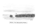 Attila The Horizontally Mobile - New Yorker Cartoon Premium Giclee Print by Warren Miller