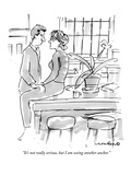 """It's not really serious, but I am seeing another anchor."" - New Yorker Cartoon Premium Giclee Print by Michael Crawford"