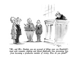 """Mr. and Mrs. Dunlap, you are accused of filling your son Randolph's head …"" - New Yorker Cartoon Premium Giclee Print by Lee Lorenz"