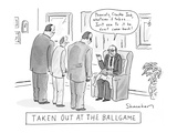 Taken Out At The Ballgame - New Yorker Cartoon Premium Giclee Print by Danny Shanahan