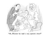 """Ah, Monsieur has made a very expensive choice!"" - New Yorker Cartoon Premium Giclee Print by Gahan Wilson"