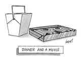 Dinner and a Movie - New Yorker Cartoon Premium Giclee Print by Tom Cheney