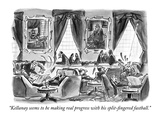 """Kellanay seems to be making real progress with his split-fingered fastbal…"" - New Yorker Cartoon Premium Giclee Print by Lee Lorenz"