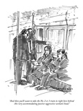 """And then you'll want to take the No. 2 or 3 train to right here behind th…"" - New Yorker Cartoon Premium Giclee Print by Michael Crawford"