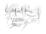 "Car passes sign by small houses ""The Amenities"". - New Yorker Cartoon Regular Giclee Print by Everett Opie"