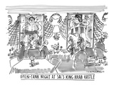 Open-Tank Night at Sal's King Krab Kastle' - New Yorker Cartoon Premium Giclee Print by Michael Crawford