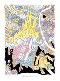 """Still, you gotta admit crime is down"" - New Yorker Cartoon Giclee Print by Gahan Wilson"