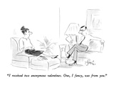 """I received two anonymous valentines.  One, I fancy, was from you."" - New Yorker Cartoon Premium Giclee Print by Edward Frascino"
