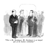 """This is Mr. Sternhauser.  Mr. Sternhauser is an integral part of the busi…"" - New Yorker Cartoon Regular Giclee Print by Stan Hunt"