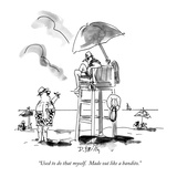 """Used to do that myself.  Made out like a bandito."" - New Yorker Cartoon Premium Giclee Print by Donald Reilly"