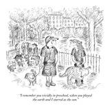 """I remember you vividly in preschool, when you played the earth and I star…"" - New Yorker Cartoon Premium Giclee Print by Edward Koren"