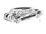 Young boy being driven home by chauffer. - New Yorker Cartoon Premium Giclee Print by Everett Opie