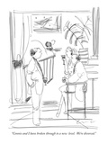 """Connie and I have broken through to a new  level.  We're divorced."" - New Yorker Cartoon Premium Giclee Print by Richard Cline"