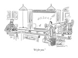 """It's for you."" - New Yorker Cartoon Regular Giclee Print by Danny Shanahan"