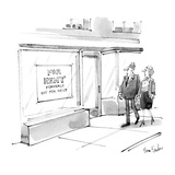 "Store front has sign ""For Sale, Formerly Not For Sale"". - New Yorker Cartoon Regular Giclee Print by Dana Fradon"