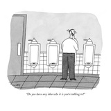 """Do you have any idea who it is you're talking to"" - New Yorker Cartoon Regular Giclee Print by Peter C. Vey"