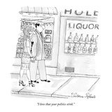"""I love that your politics stink."" - New Yorker Cartoon Premium Giclee Print by Victoria Roberts"