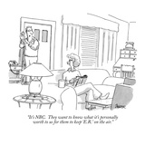 """""""It's NBC.  They want to know what it's personally worth to us for them to…"""" - New Yorker Cartoon Premium Giclee Print by Jack Ziegler"""