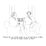 """Sounds like you should wander out of the dark forest of Myra and into the…"" - New Yorker Cartoon Premium Giclee Print by Richard Cline"