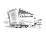 OVERNITE CROISSANTS - New Yorker Cartoon Giclee Print by Ed Fisher