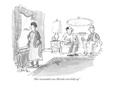 """She's inconsolable since Mizrahi went belly-up."" - New Yorker Cartoon Premium Giclee Print by Edward Frascino"