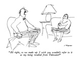 """All right, so we made up.  I wish you wouldn't refer to it as my being re…"" - New Yorker Cartoon Premium Giclee-trykk av Al Ross"