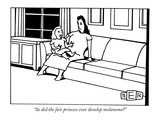 """So did the fair princess ever develop melanoma"" - New Yorker Cartoon Premium Giclee Print by Bruce Eric Kaplan"
