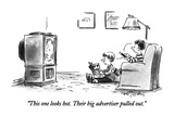 """This one looks hot. Their big advertiser pulled out."" - New Yorker Cartoon Premium Giclee Print by Mike Twohy"
