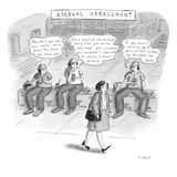 Asexual Harassment - New Yorker Cartoon Regular Giclee Print by Roz Chast