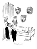 """Trophy husbands."" - New Yorker Cartoon Premium Giclee Print by Marisa Acocella Marchetto"