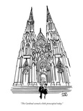 """The Cardinal seemed a little preoccupied today."" - New Yorker Cartoon Premium Giclee Print by Joseph Farris"