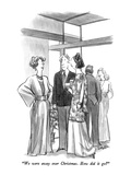 """We were away over Christmas.  How did it go"" - New Yorker Cartoon Premium Giclee Print by Charles Saxon"