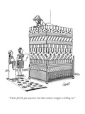 """I don't feel the pea anymore, but that condom wrapper is killing me."" - New Yorker Cartoon Premium Giclee Print by Tom Cheney"